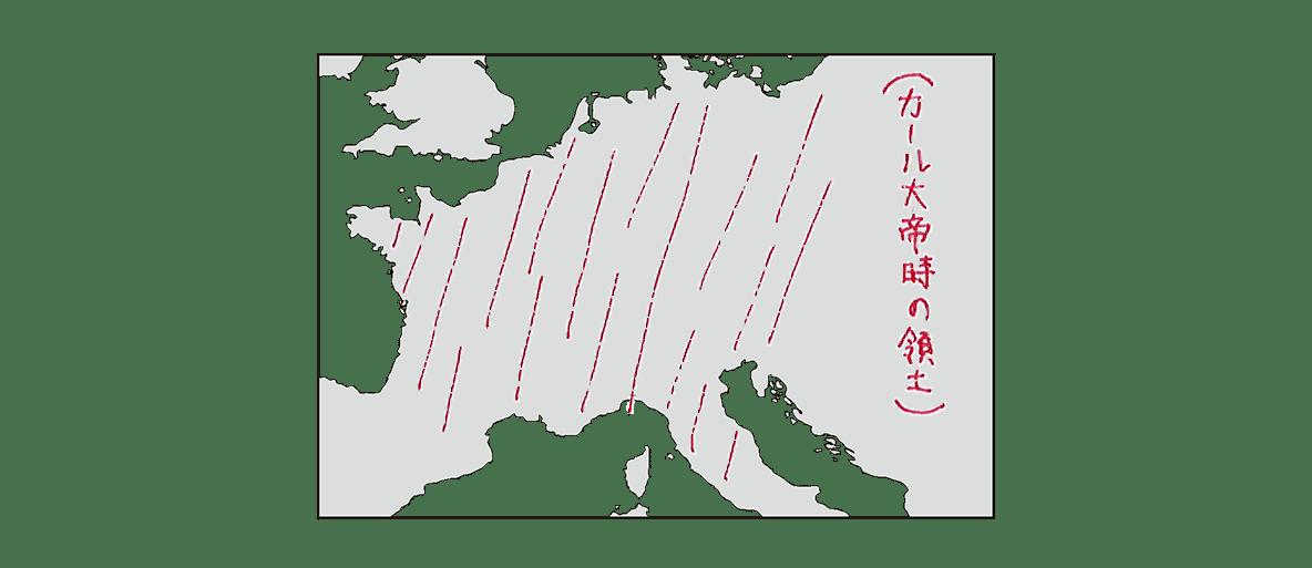 高校世界史 中世ヨーロッパ世界の成立2 地図のみ/書き込みアリ