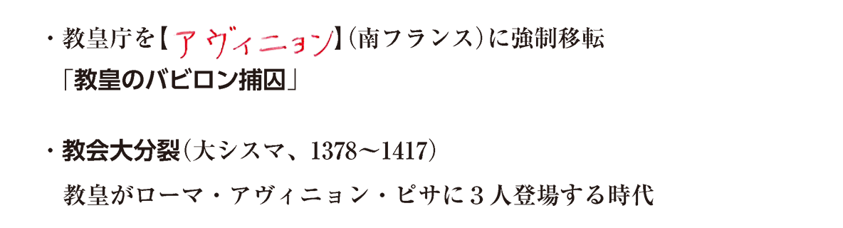 教皇庁を~(大シスマ、1378~1417)、まで/ppt参照