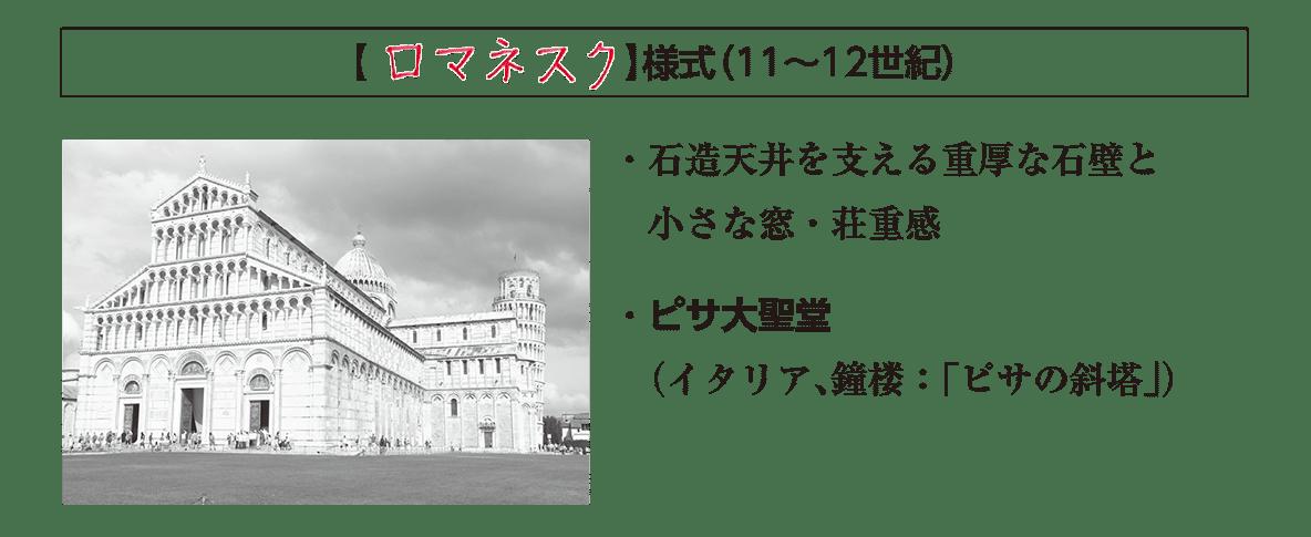 ポ3「ロマネスク様式」の項目/答えアリ
