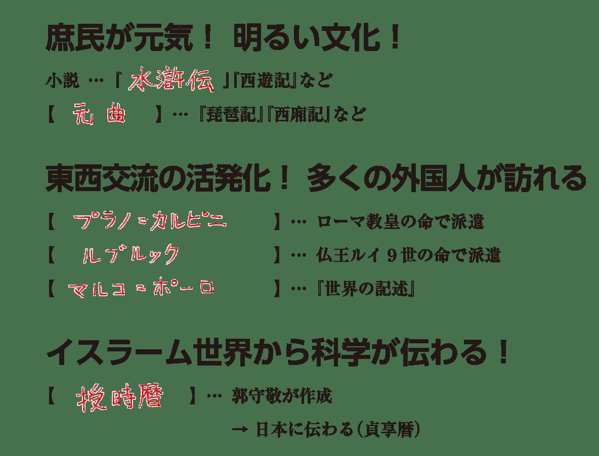 高校世界史 東アジア世界の展開6 練習