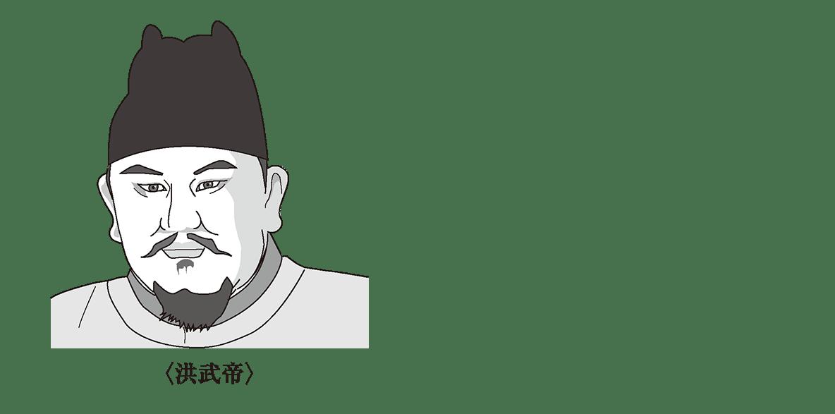 ポ1/洪武帝のイラスト/左ツメ
