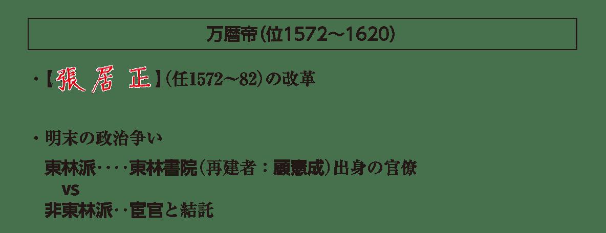 ポ1「万暦帝」の項目/答えアリ