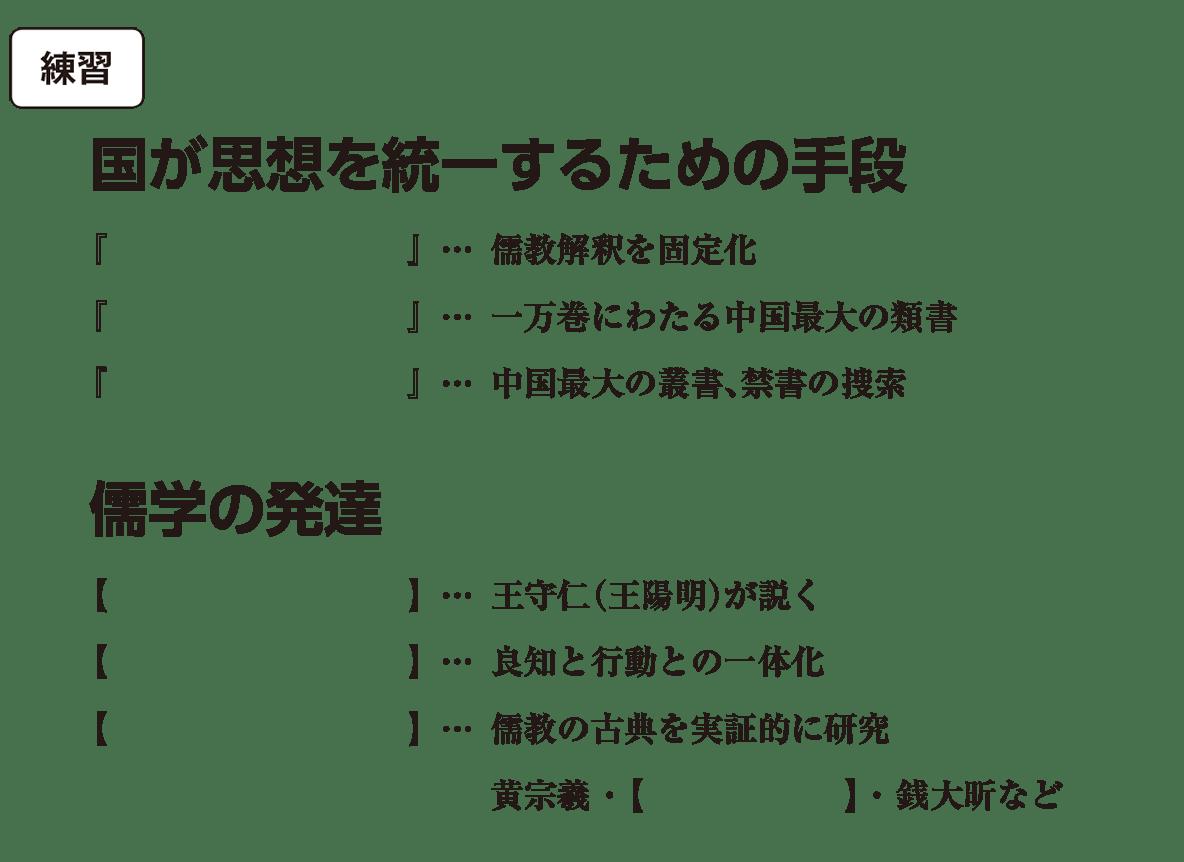 高校世界史 明・清の時代6 練習 括弧空欄