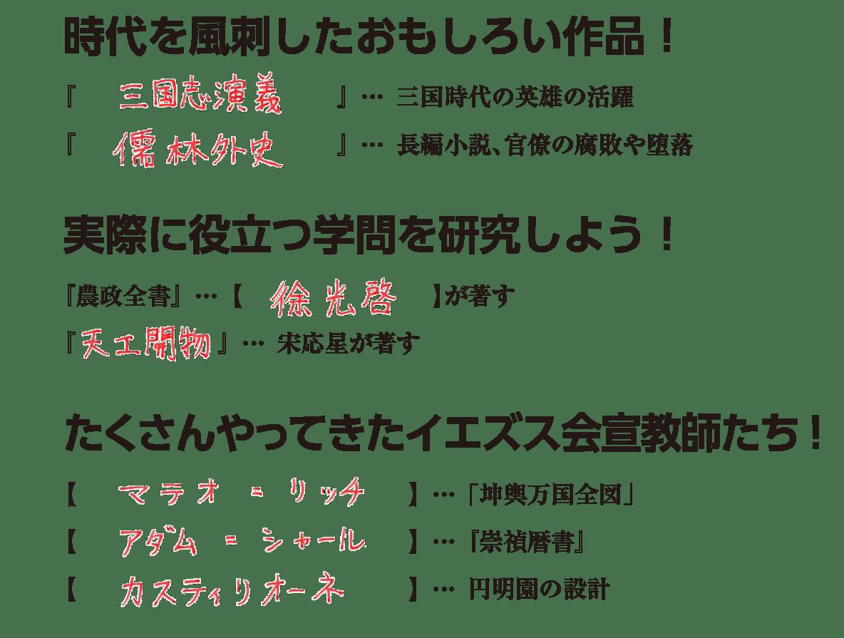 高校世界史 明・清の時代7 練習