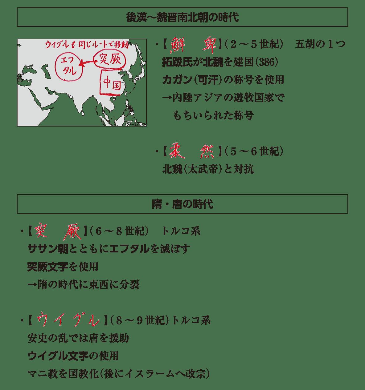 高校世界史 中国周辺地域史1 ポ2 答え全部
