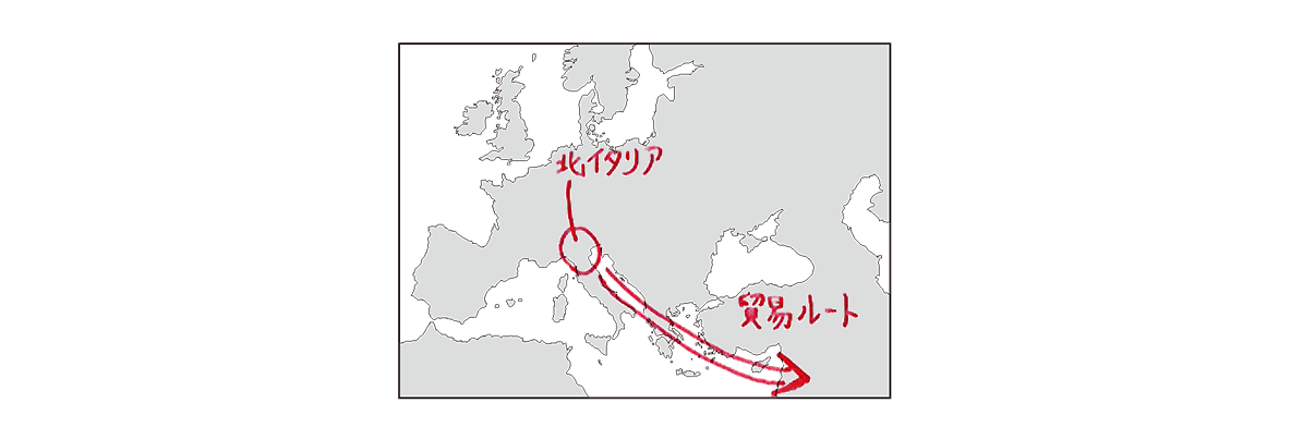 高校世界史 ルネサンス4 ポイント1 地図のみ