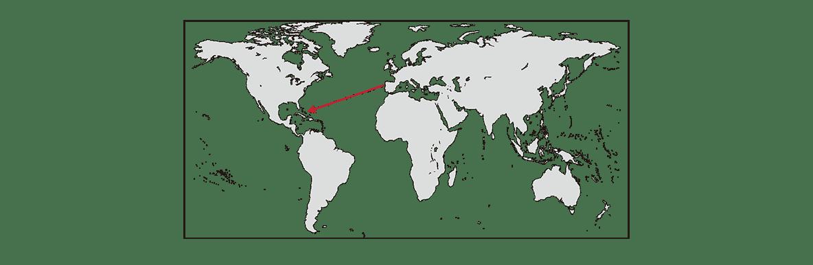 ポイント2の白地図に、pptを参照して→を入れてください