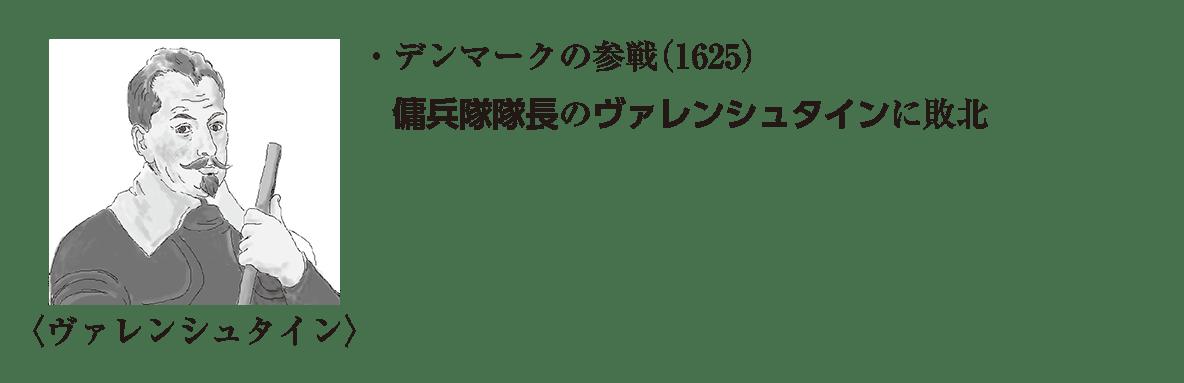 ヴァレンシュタインのイラスト+image02の続き2行/デンマークの参戦~に敗北