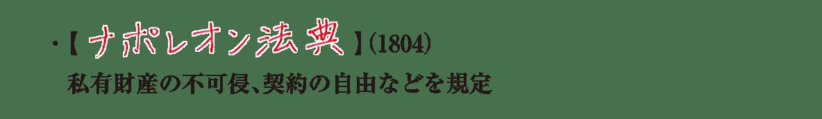 image04の続き2行/ナポレオン法典~などを規定