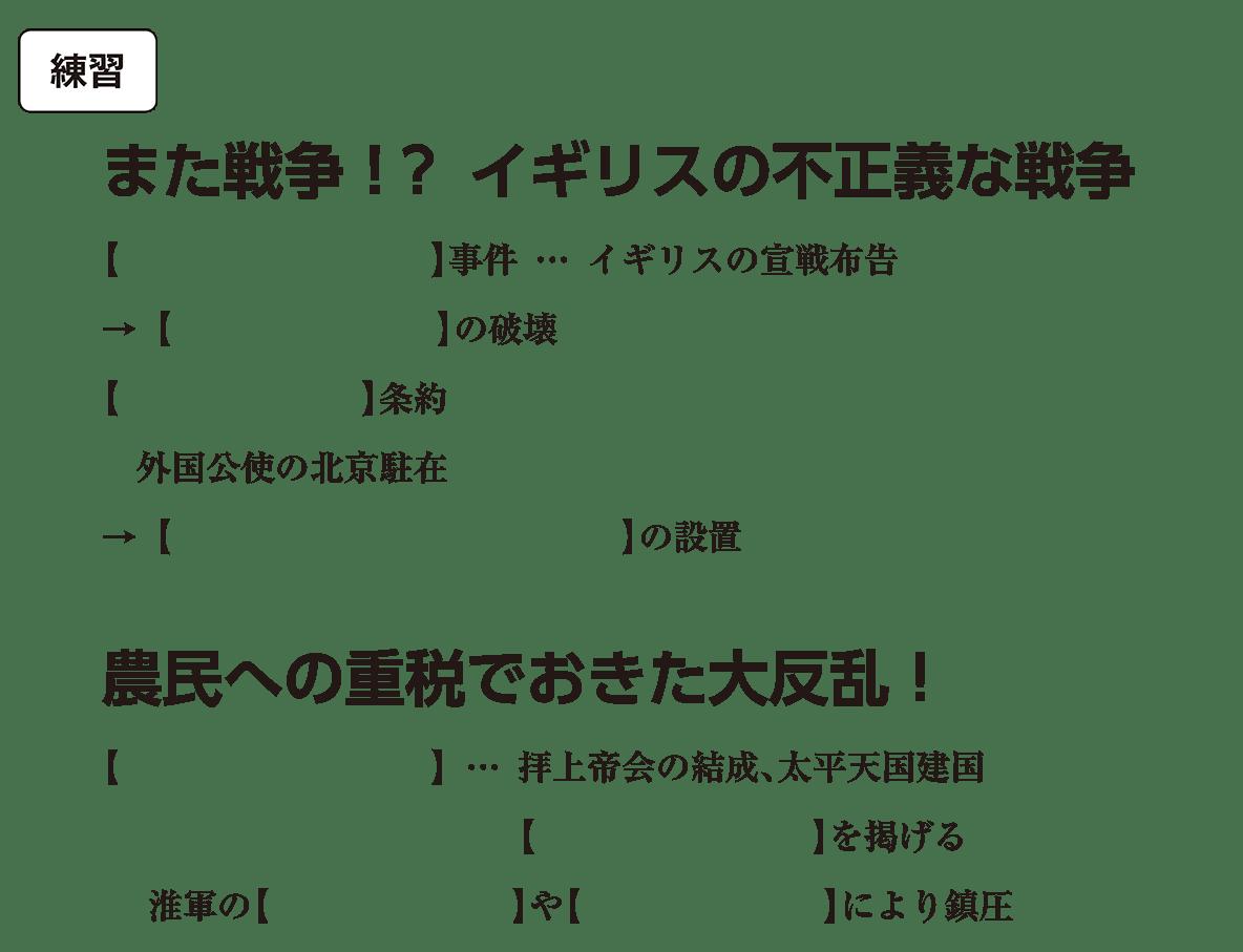高校世界史 中国と朝鮮の植民地化2 練習 括弧空欄
