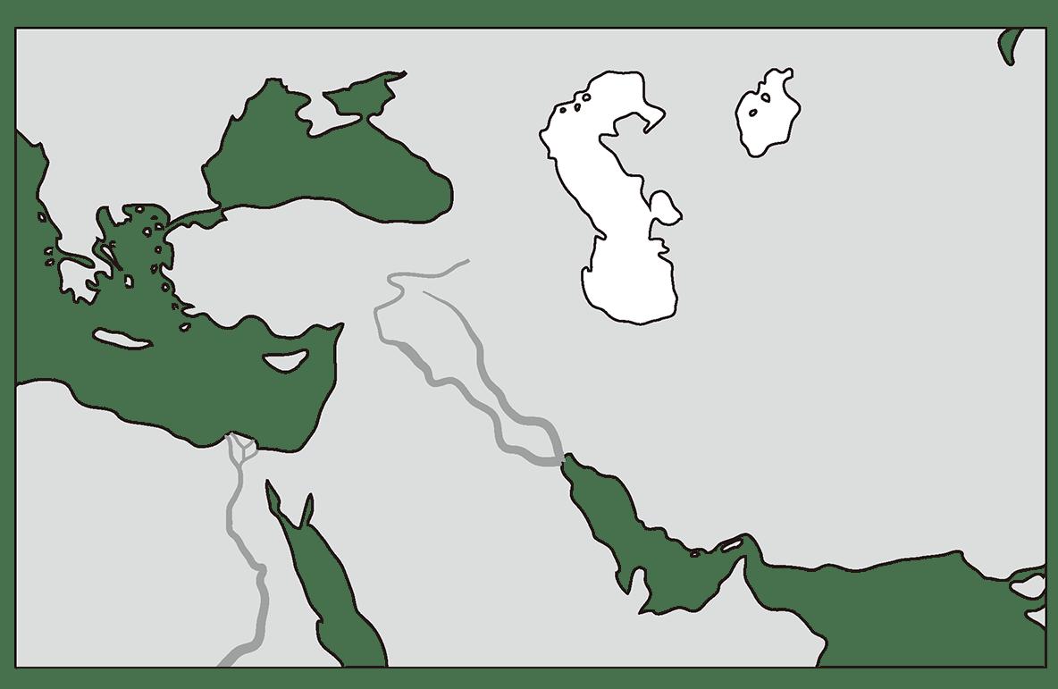 高校世界史 古代オリエント0 右ページ上部の地図