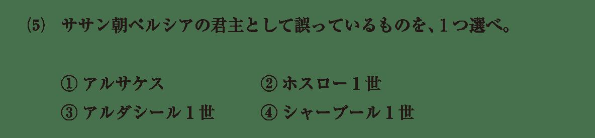 高校世界史 古代オリエント8 確認テスト(後半)問題2(5)問題文のみ答え無し