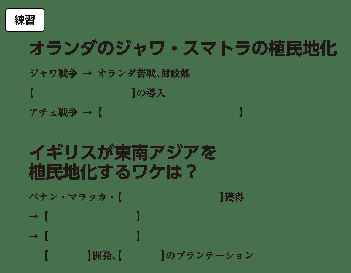 アジア諸地域の植民地化2 練習 括弧空欄