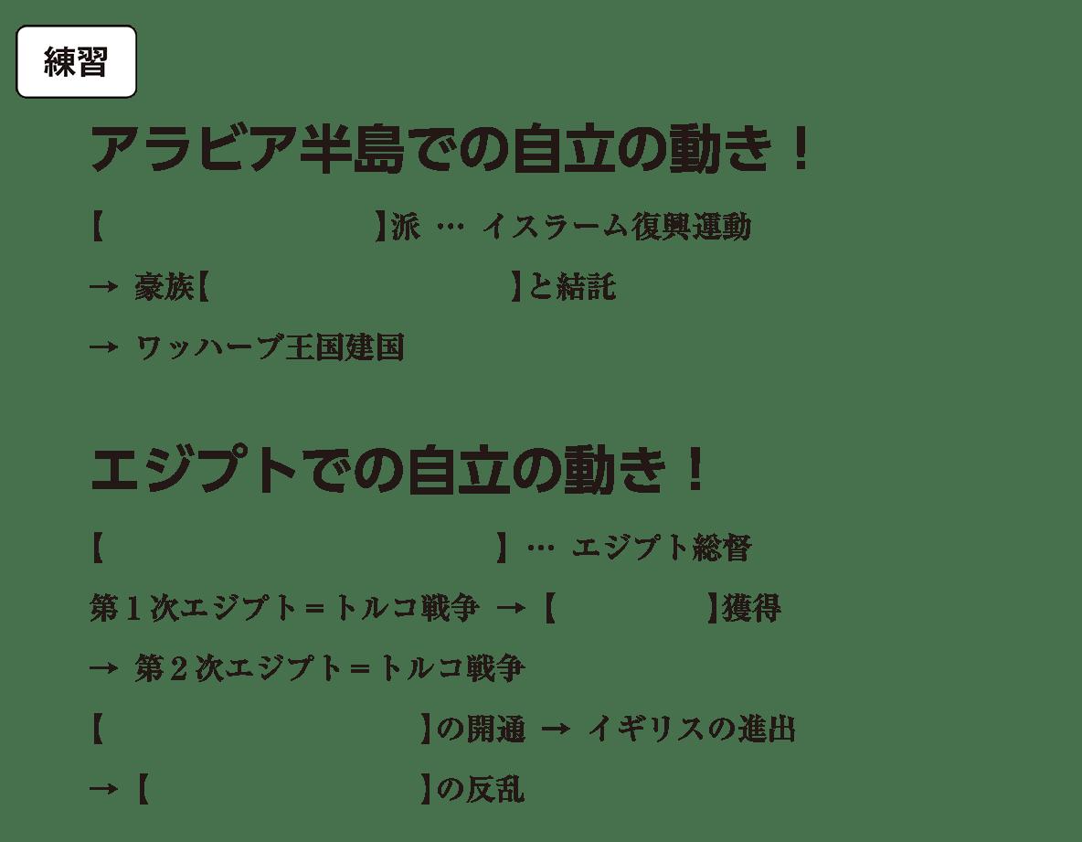 アジア諸地域の植民地化4 練習 括弧空欄