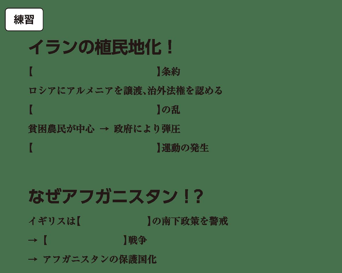 アジア諸地域の植民地化6 練習 括弧空欄