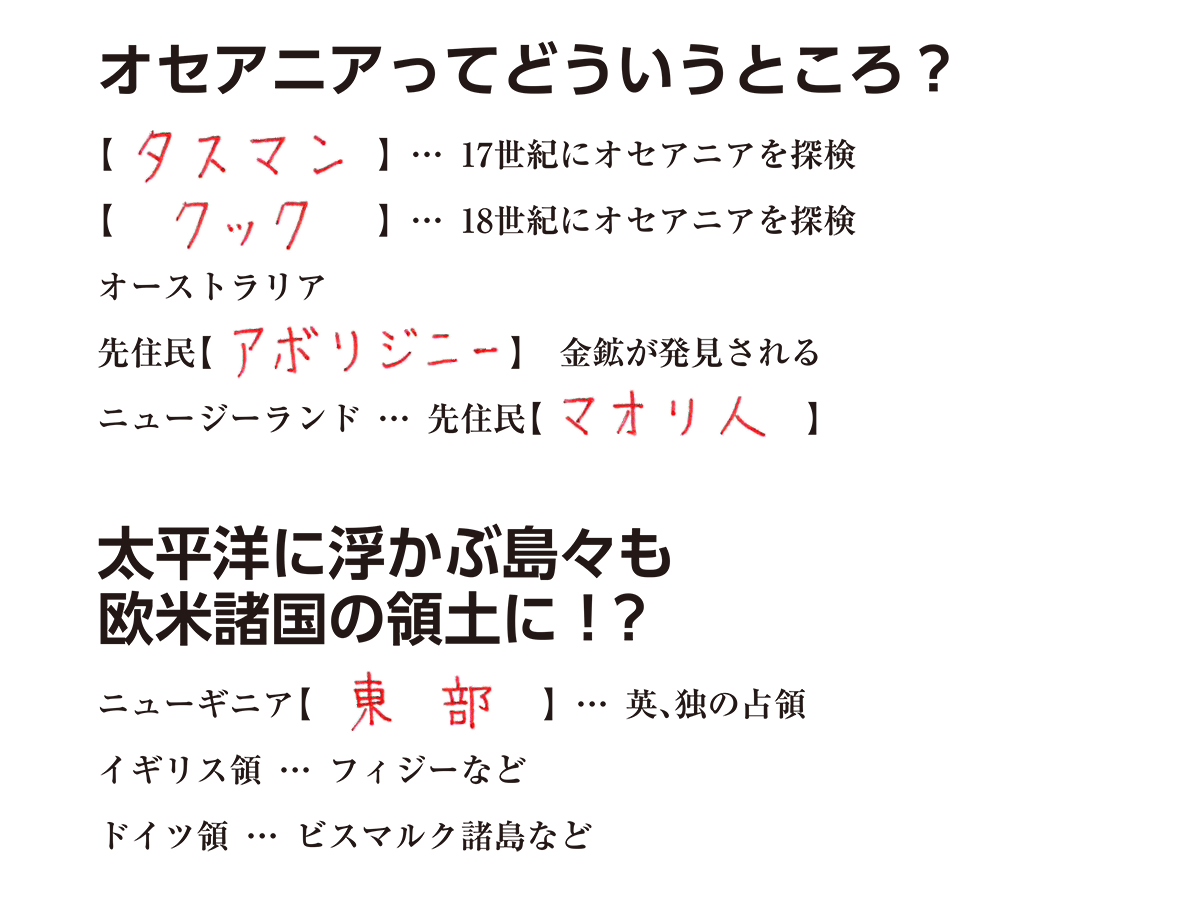 世界分割と列強の対立5 練習 答え