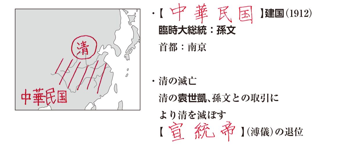 02続き/地図+テキスト7行/中華民国~
