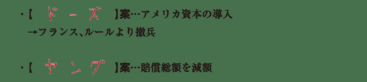 03続き3行/ドーズ案、ヤング案