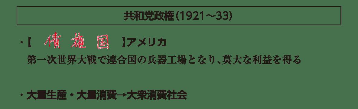 「共和党政権」見出し+テキスト3行/~大衆消費社会