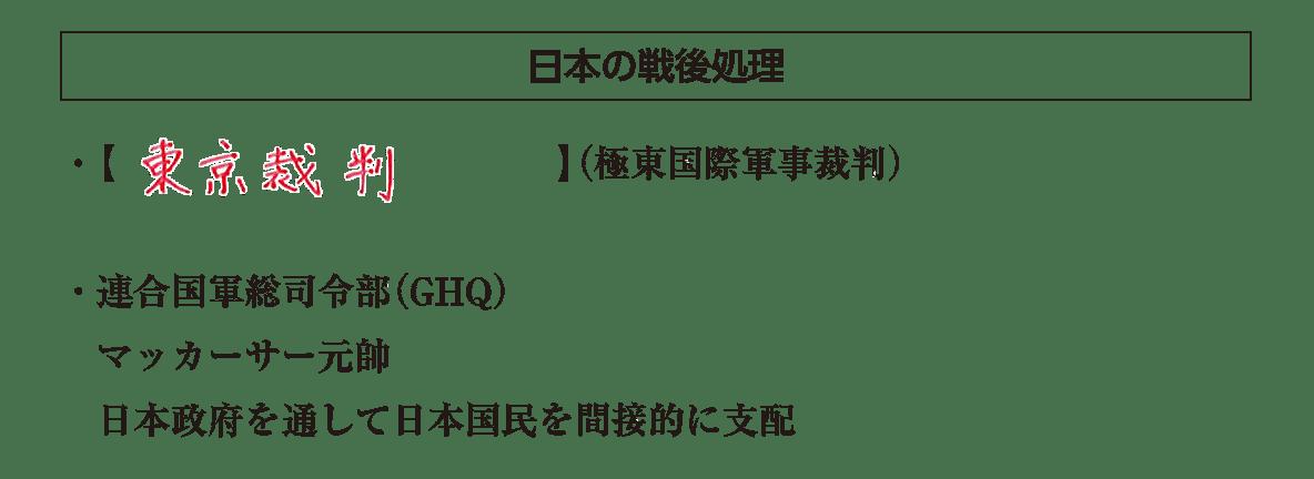 「日本の戦後処理」見出し+テキスト4行/~間接的に支配