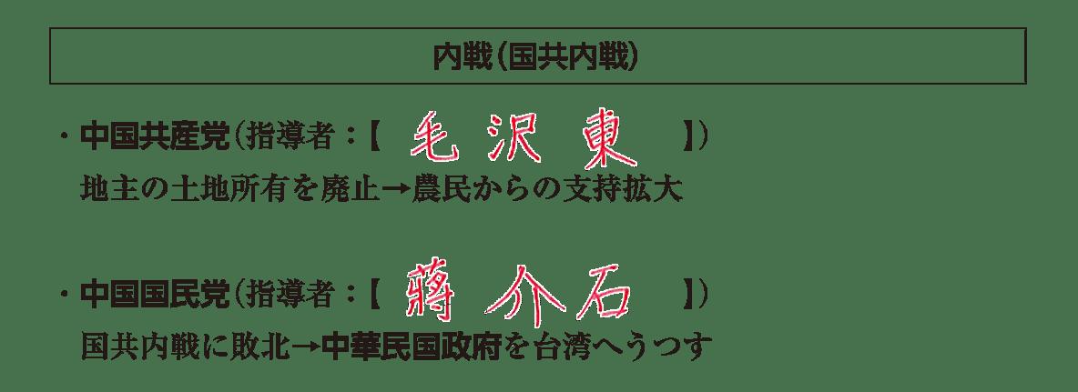 「内戦(国共内戦)」見出し+テキスト