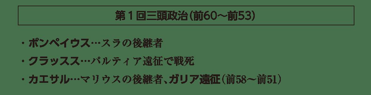 高校世界史 ローマ世界2 ポイント3/第1回三頭政治