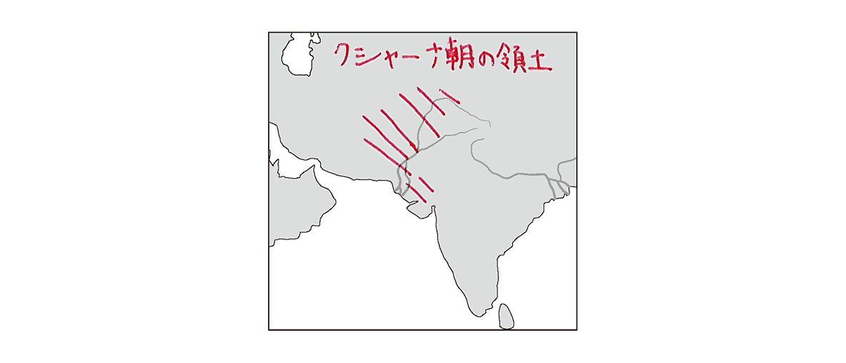 高校世界史 インドの古典文明3 ポイント2/地図のみ/書き込みアリ