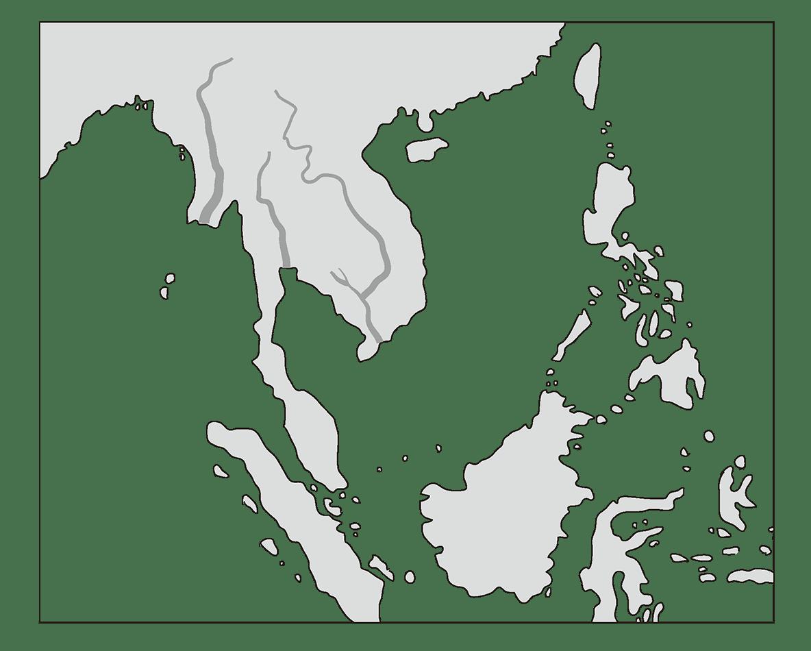 高校世界史 東南アジア前近代史0 右ページ地図のみ