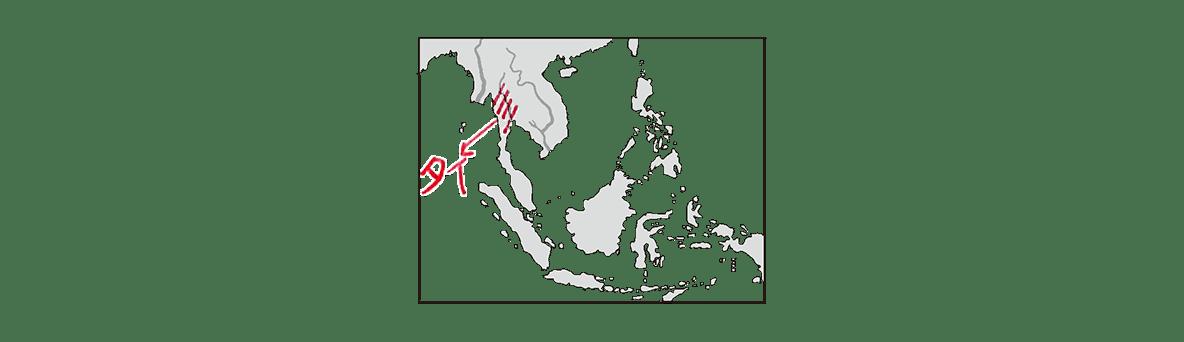 高校世界史 東南アジア前近代史1 ポイント2/地図のみ、書き込みあり