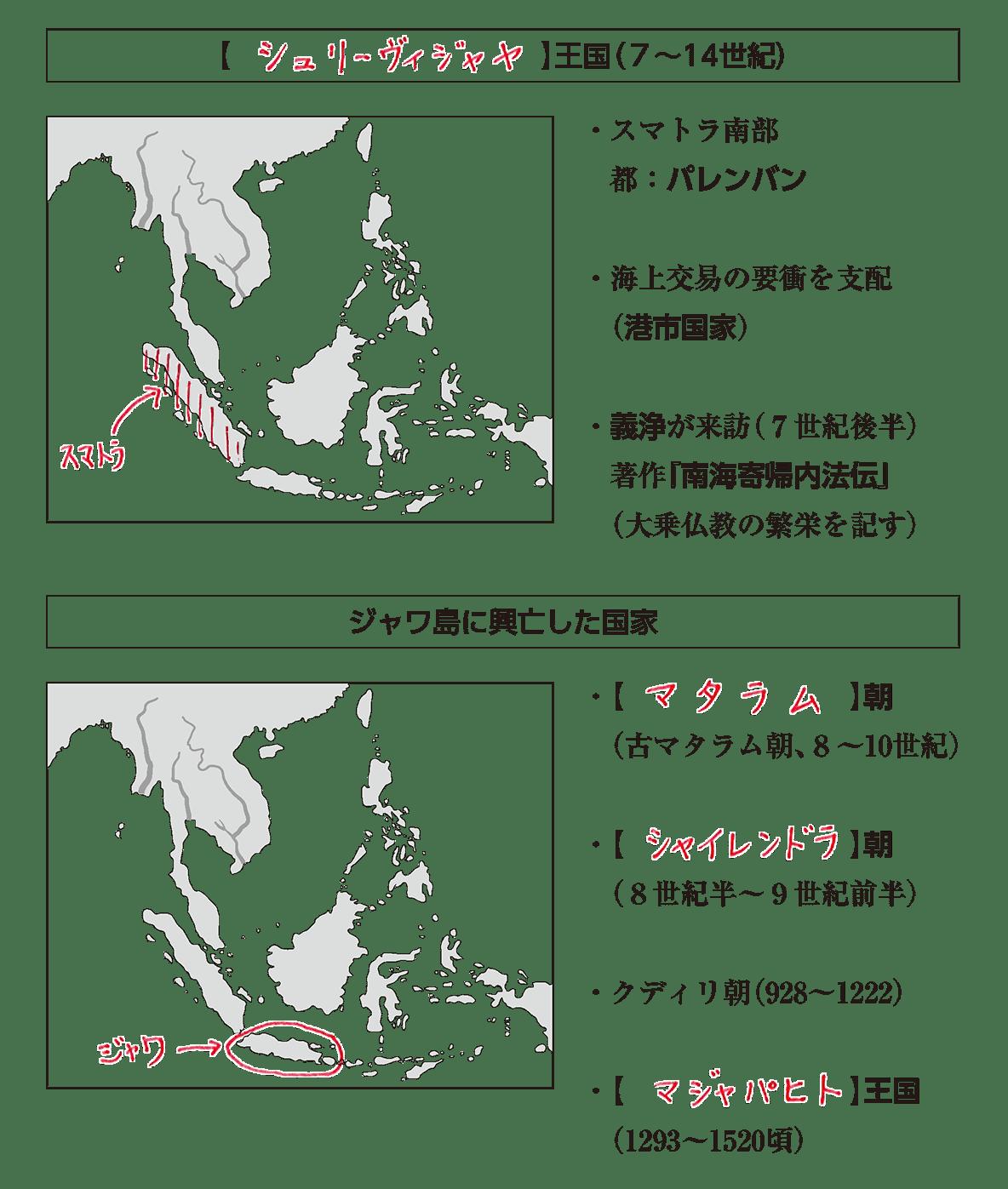 高校世界史 東南アジア前近代史3 ポイント1 答え全部