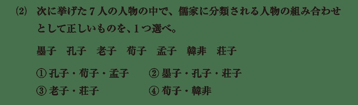 高校世界史 中国の古典文明7 問題2(2)