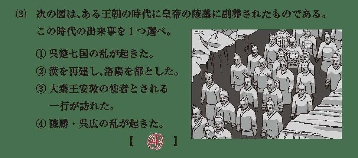 高校世界史 中国の古典文明7 問題3(2)答えアリ