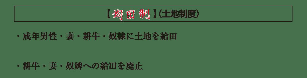 ポ3/均田制の項目/答え全部