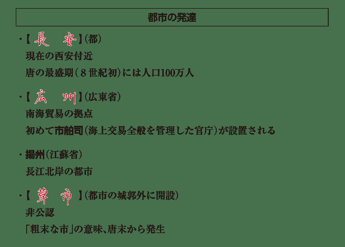 高校世界史 東アジア文明圏の形成4 答え全部