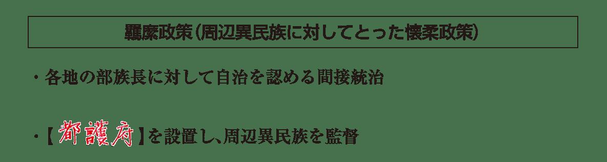 高校世界史 東アジア文明圏の形成4 ポ3/羈縻政策/答えアリ
