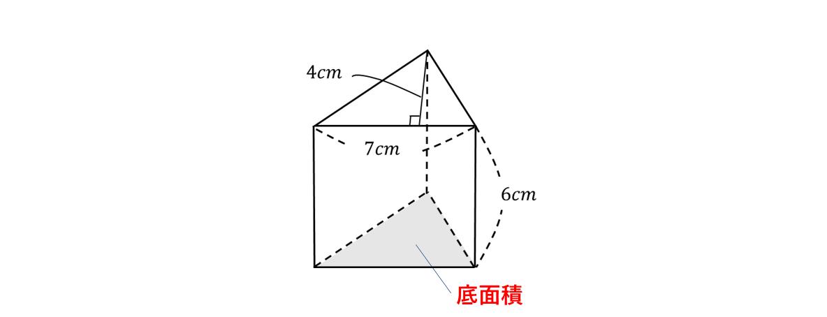 テスト記事 中1 数学6 問題1の見方の図