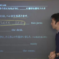There is ~を使った文の問題