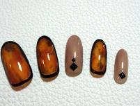 秋を感じる大人のネイルで魅力的な手元に☆5種類から選べるデザイン(カラー変更OK&オフ込)