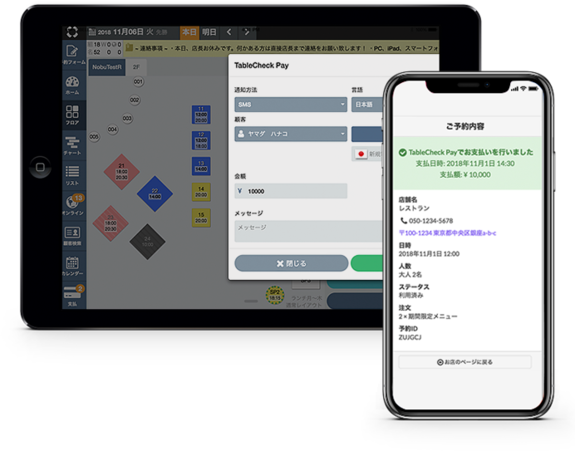 TableSolution on mobile