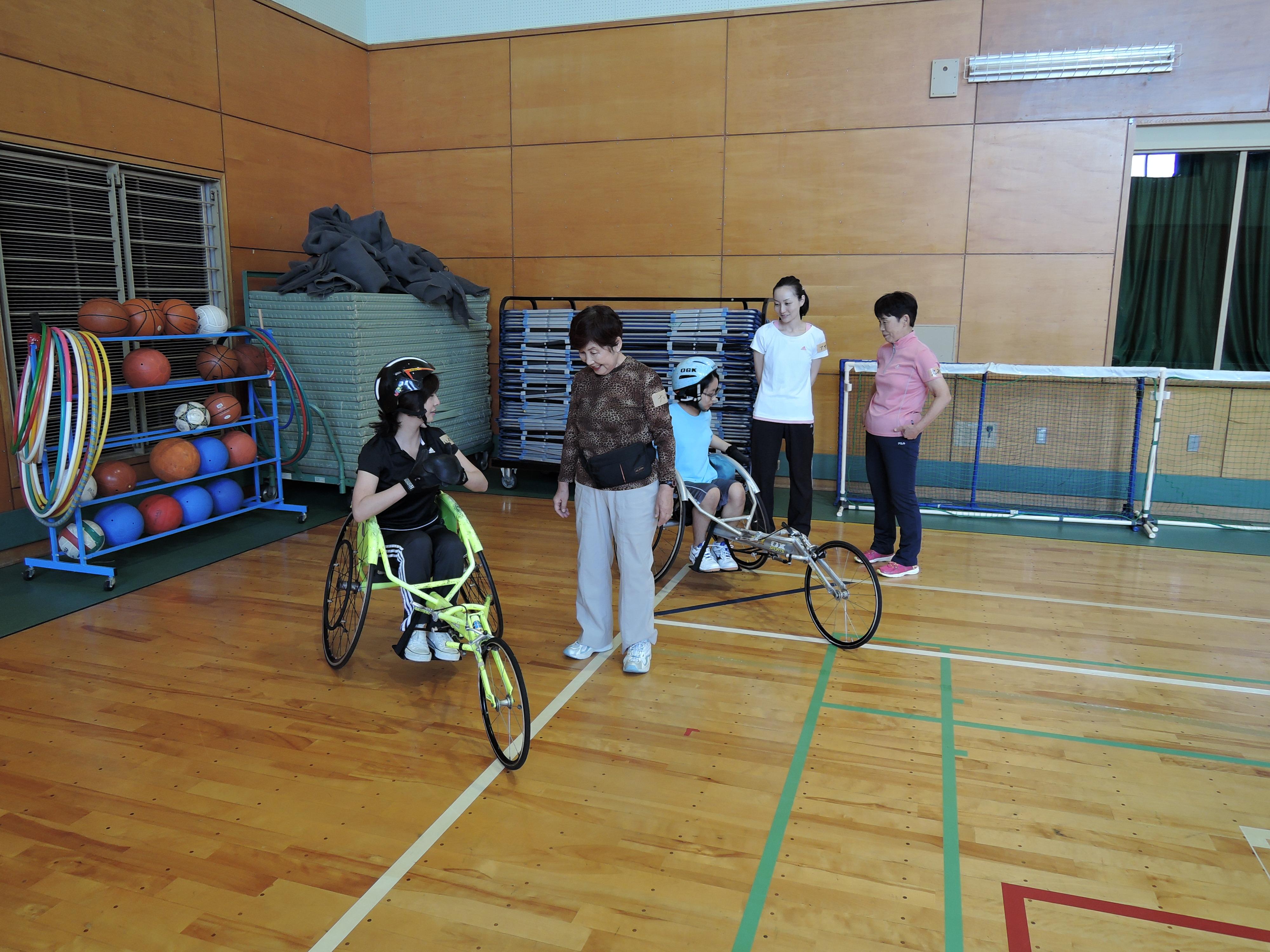 DSCN7092 - スポーツボランティア入門講習会「スポーツ用車いすに乗ってみよう!」