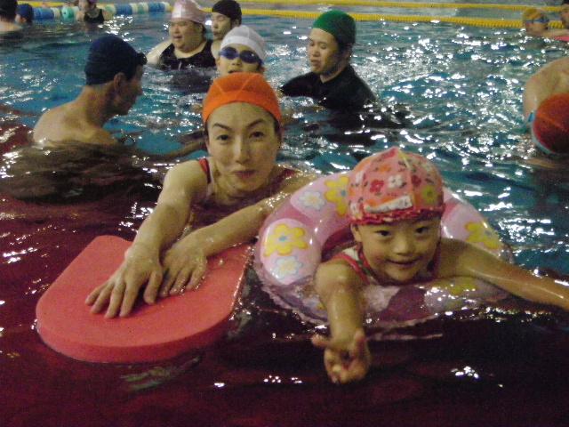 IMGP0068 - 都障水連による水泳入門より・・・ 〜親子でがんばっています!〜