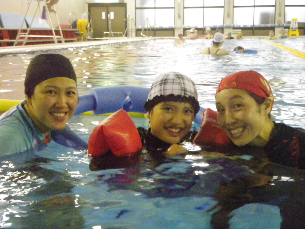 IMGP1327 -  都障水連による水泳入門より・・・涼しくなっても頑張っています!