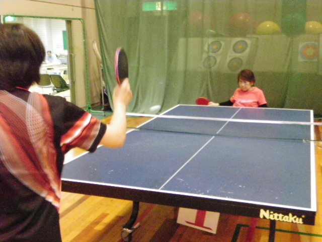 IMGP6841 - 卓球教室より ・・・本日は、サーブレシーブの練習です。