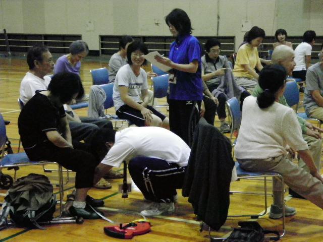 IMGP6934 - 介護予防運動教室より ・・・体力測定です。