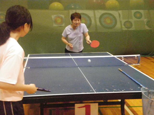 IMGP7206 - 卓球教室より ・・・本日サーブとサーブレシーブの練習です。