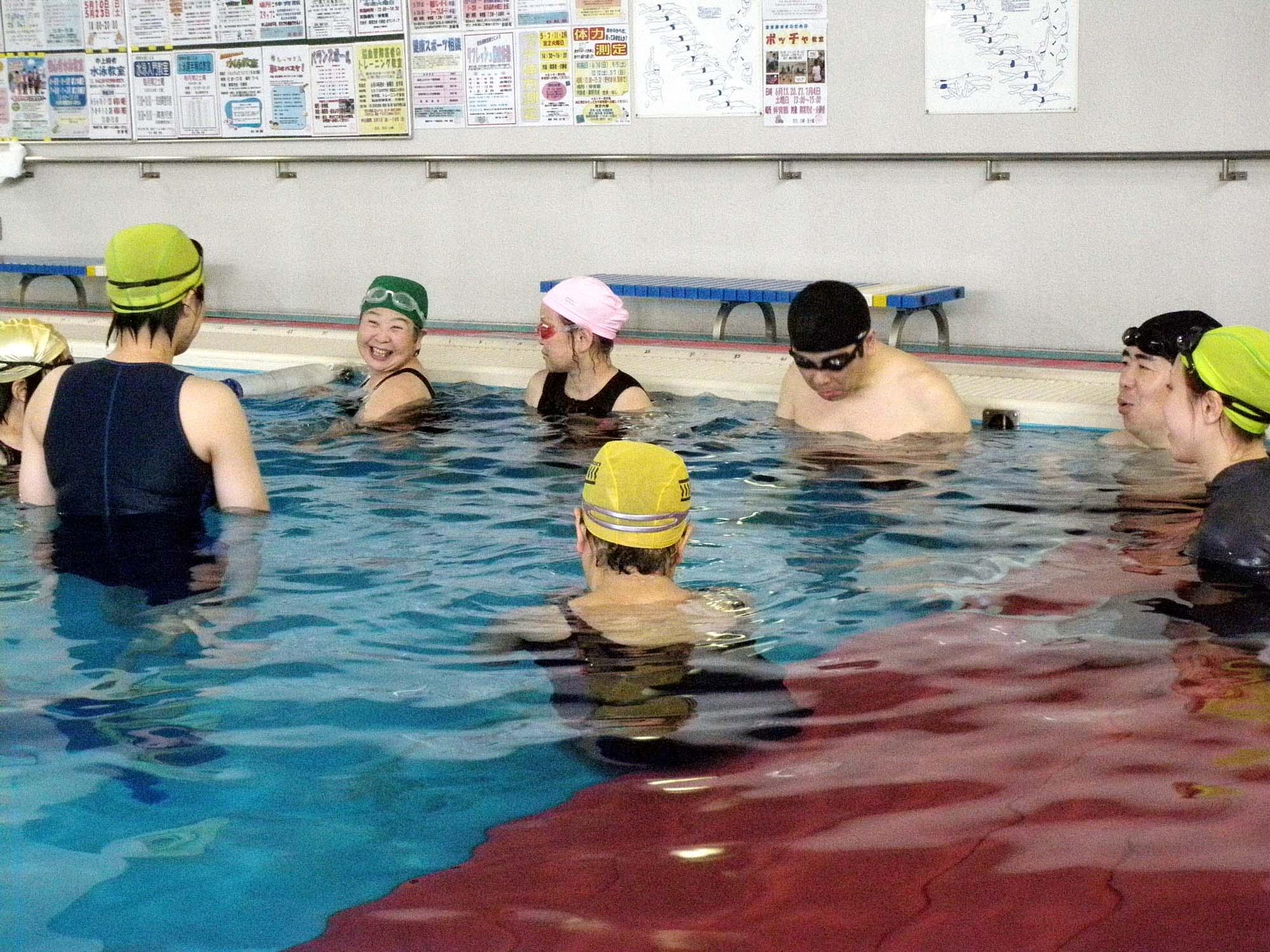 P5140143 - 初心者水泳教室より ・・・ゆっくりと練習しています。