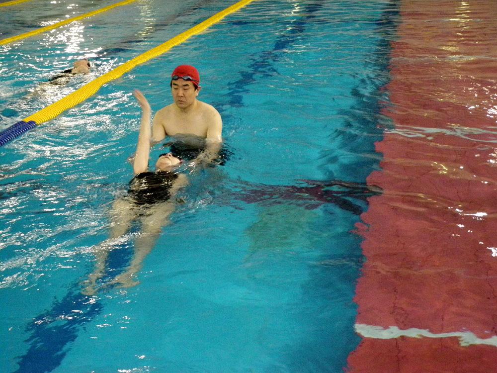 P5240046 - 水泳ワンポイント教室より ・・・ご要望に応じてアドバイス。