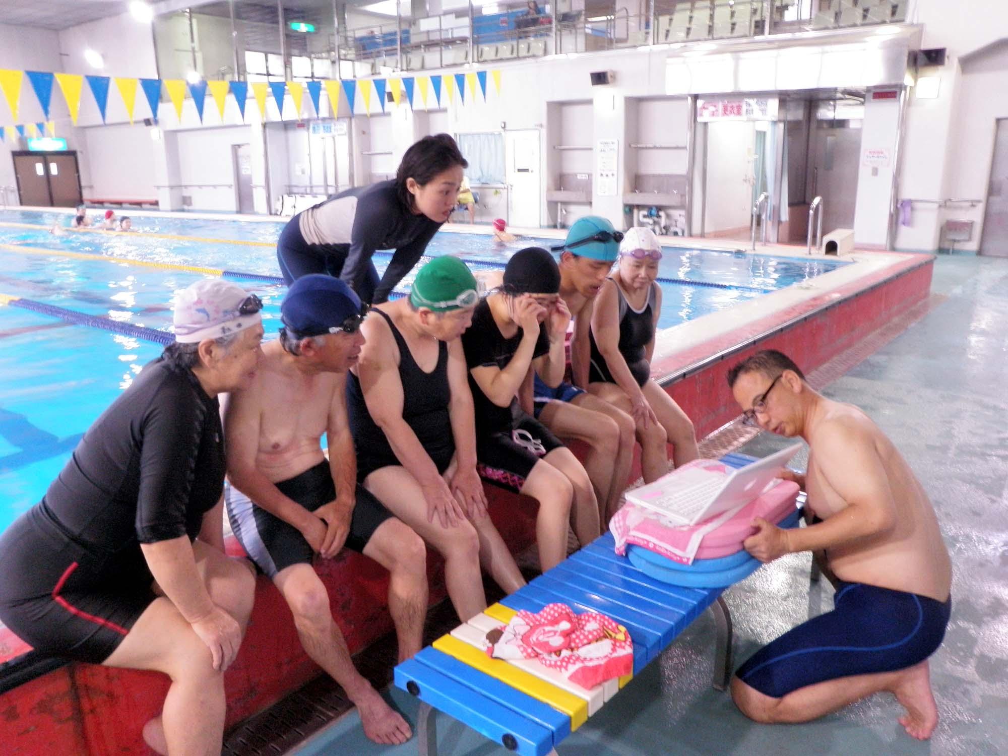P5280015 - 中上級水泳教室より ・・・フォームチェックしました。
