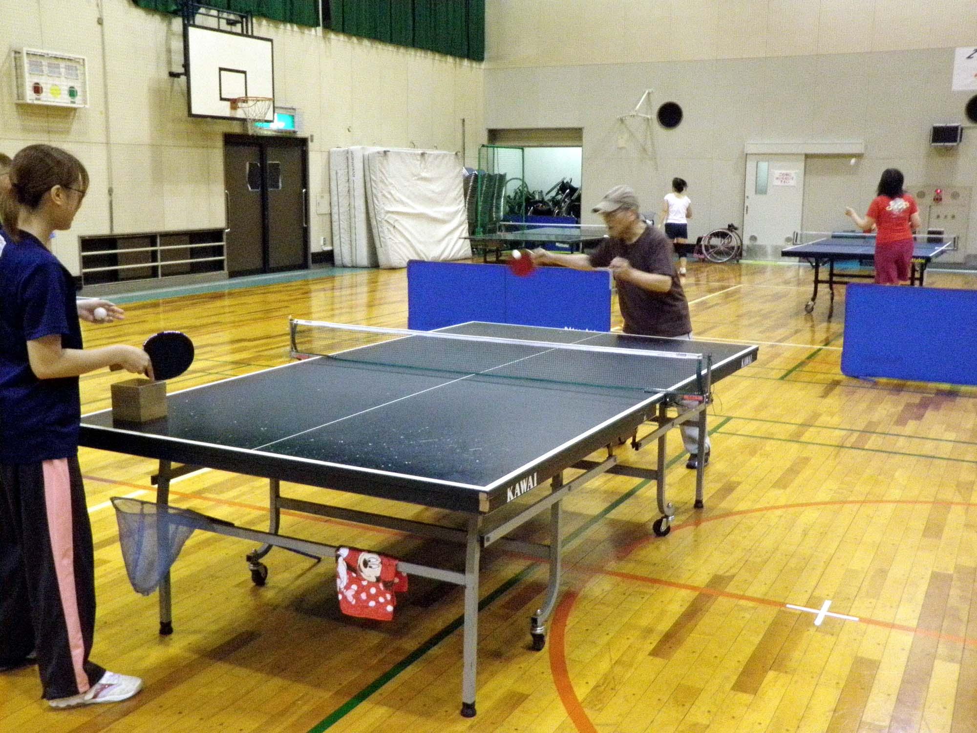 P6150194 - 卓球教室より ・・・今日はスマッシュ。