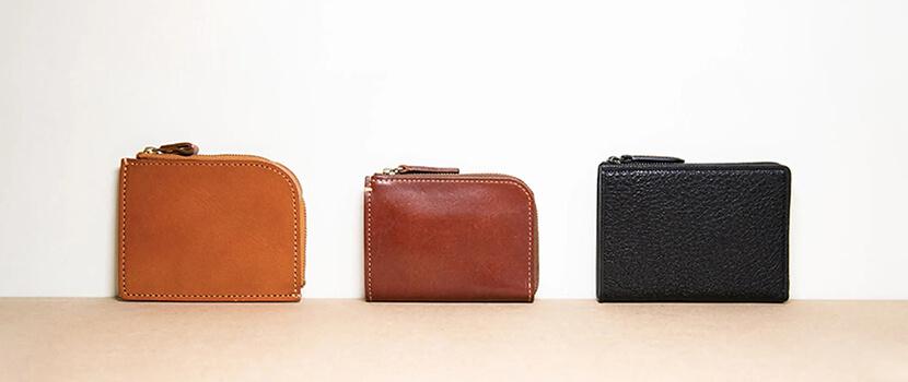 三款 L 型拉鍊皮夾 設計特色、使用機能、皮革質地介紹
